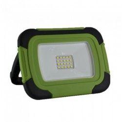 Flomlys V-Tac LED lyskaster 10W - 12V/230V, bærbar, oppladbart