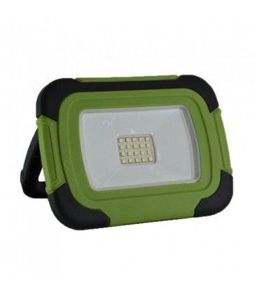 V-Tac LED lyskaster 10W - 12V/230V, bærbar, oppladbart