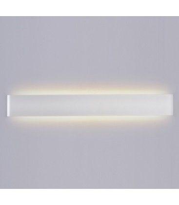 V-Tac 20W LED hvit aflang vegglampe - Indirekte, IP44 utendørs, 230V, inkl. lyskilde