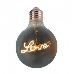 E27 LED V-Tac 5W LED Love globe pære - Karbon filamenter, Ø12,5 cm, ekstra varm hvit, E27