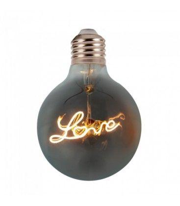 V-Tac 5W LED Love globe pære - Karbon filamenter, Ø12,5 cm, ekstra varm hvit, E27