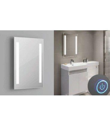 Speil med indbygged LED lys - 37W, Touch, anti-tåke funktion, valgfri lyskulør