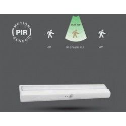 V-Tac 1,5W avlang sensor lampe - Til batteri, Samsung LED chip, perfekt til overskap