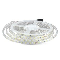 24V V-Tac 9W sprutsikker LED strip - 5m, IP65, 24V, 60 LED, 9W per meter