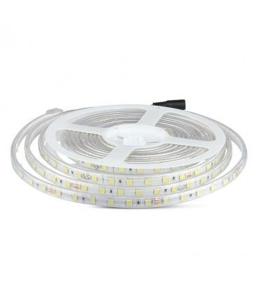 V-Tac 9W sprutsikker LED strip - 5m, IP65, 24V, 60 LED, 9W per meter