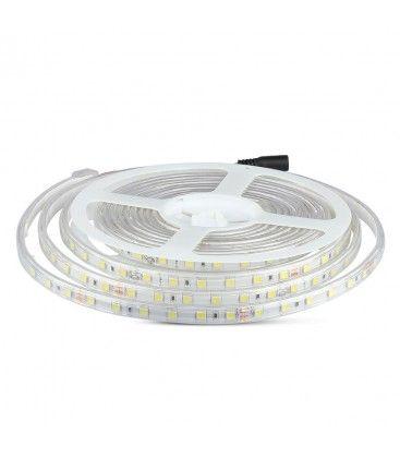 V-Tac 9W/m sprutsikker LED strip - 5m, IP65, 24V, 60 LED per meter