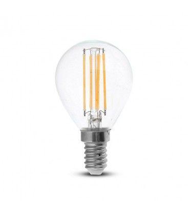 V-Tac 4W LED krone pære - Karbon filamenter, P45, E14