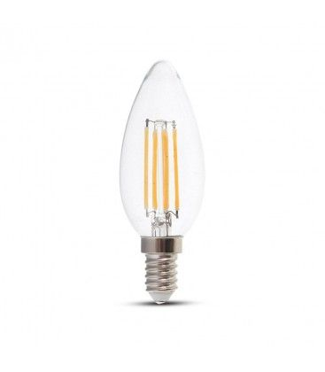 V-Tac 4W LED stearinlys pære - Karbon filamenter, E14