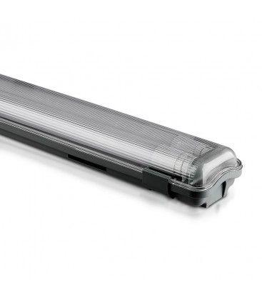 V-Tac 120 cm vanntett armatur med rør - Inkl. 2 stk. 18W LED rør, IP65, 230V