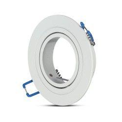 Innendørs downlights Downlight kit uten lyskilde - Hull: Ø7,5 cm, Mål: Ø9,1 cm, matt hvit, velg MR16 eller GU10 fatning