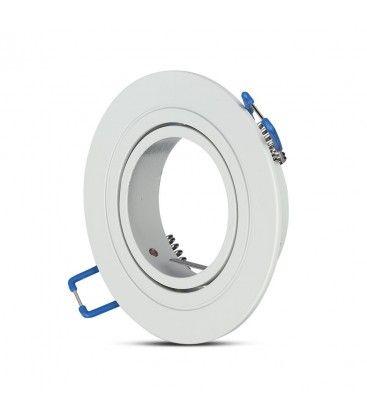 Downlight kit uten lyskilde - Hull: Ø7,5 cm, Mål: Ø9,1 cm, matt hvit, velg MR16 eller GU10 fatning